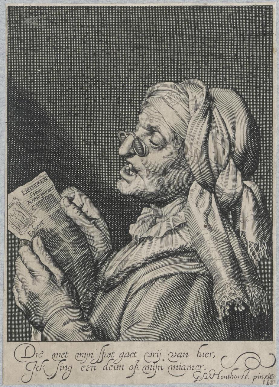 Zingende oude vrouw