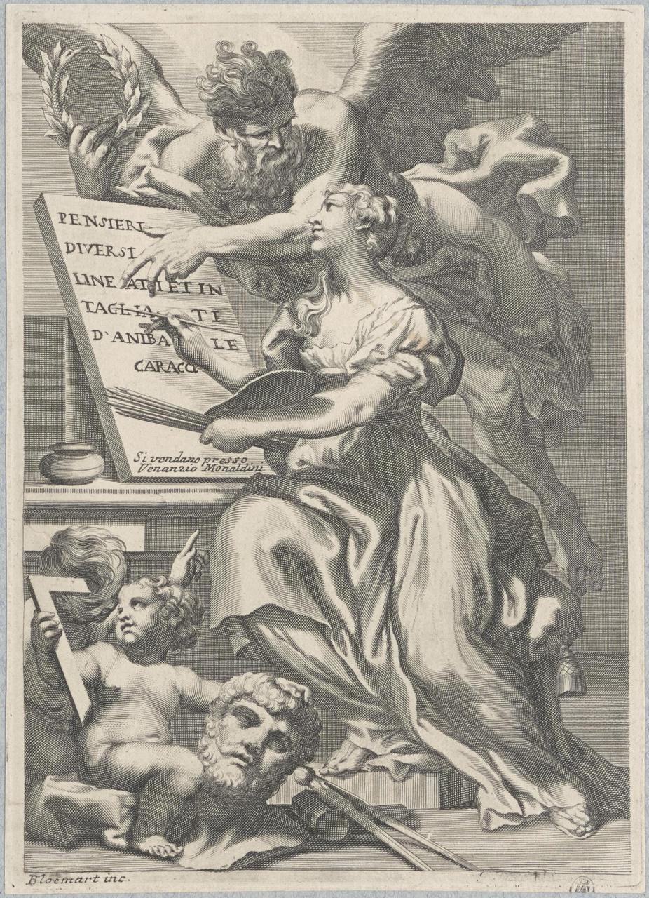 Allegorie op de schilderkunst (titelblad)