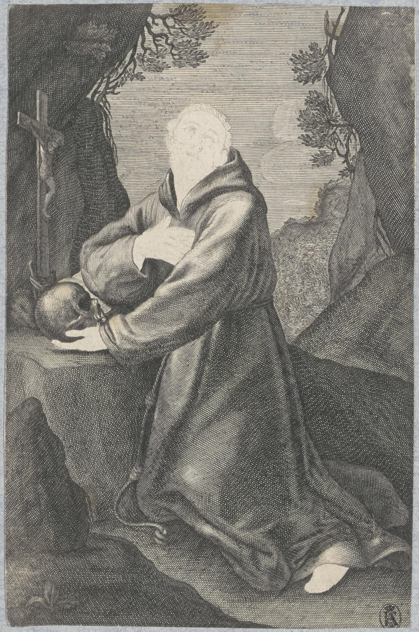 Heilige Franciscus in de woestijn