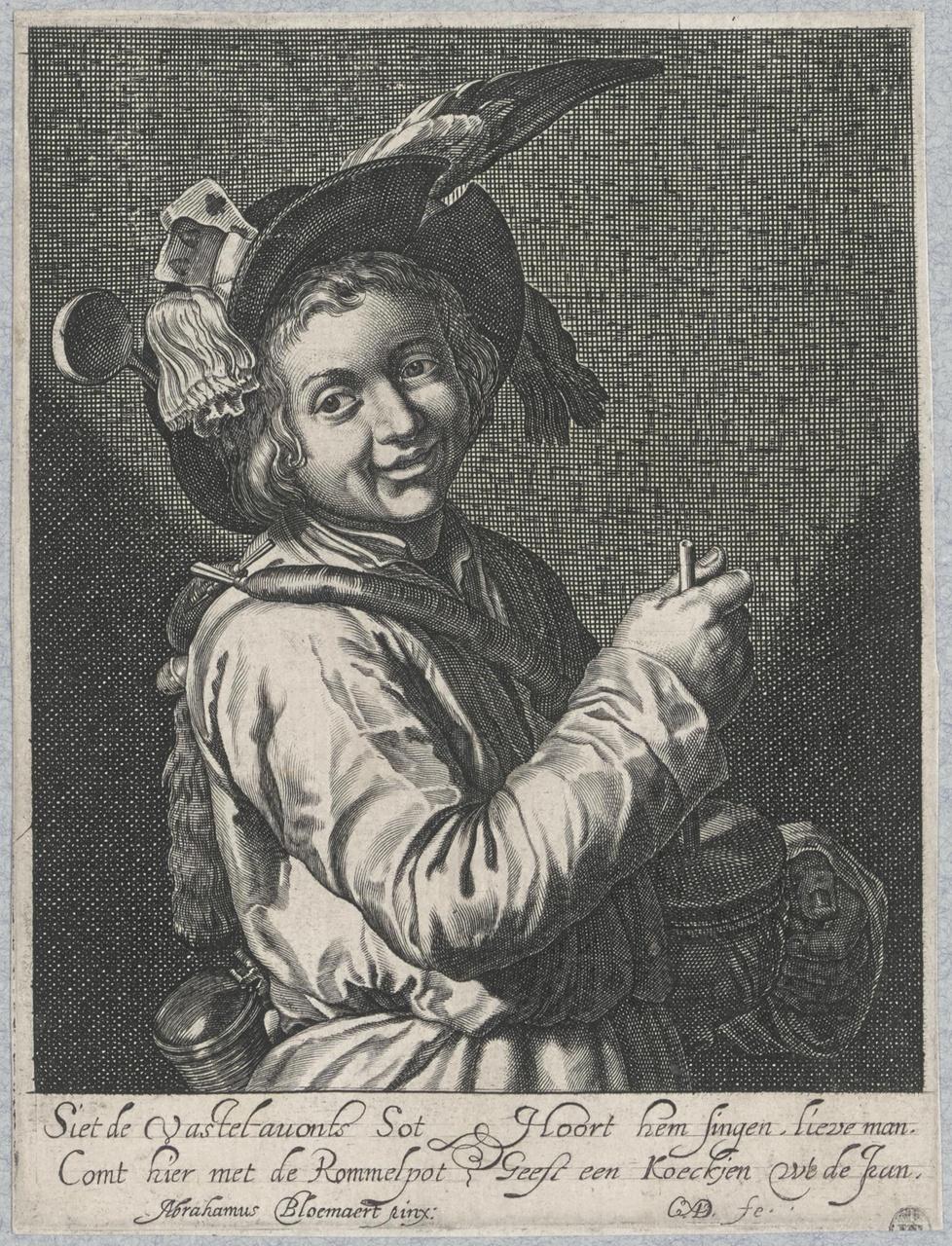 Jongen met rommelpot