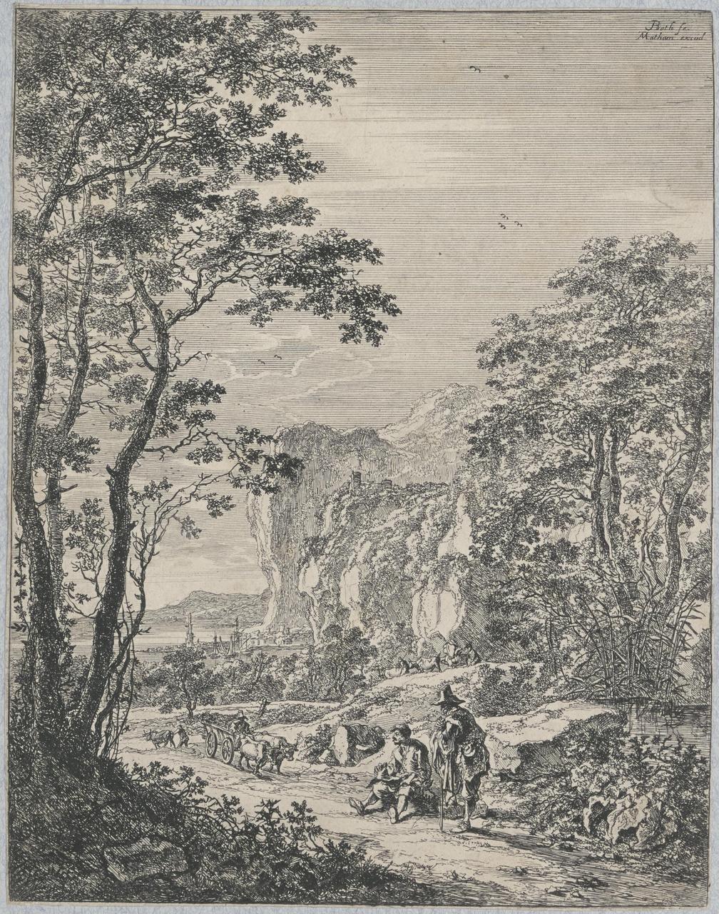 Ossenwagen (Landschap tussen Ancona en Sinigaglia)