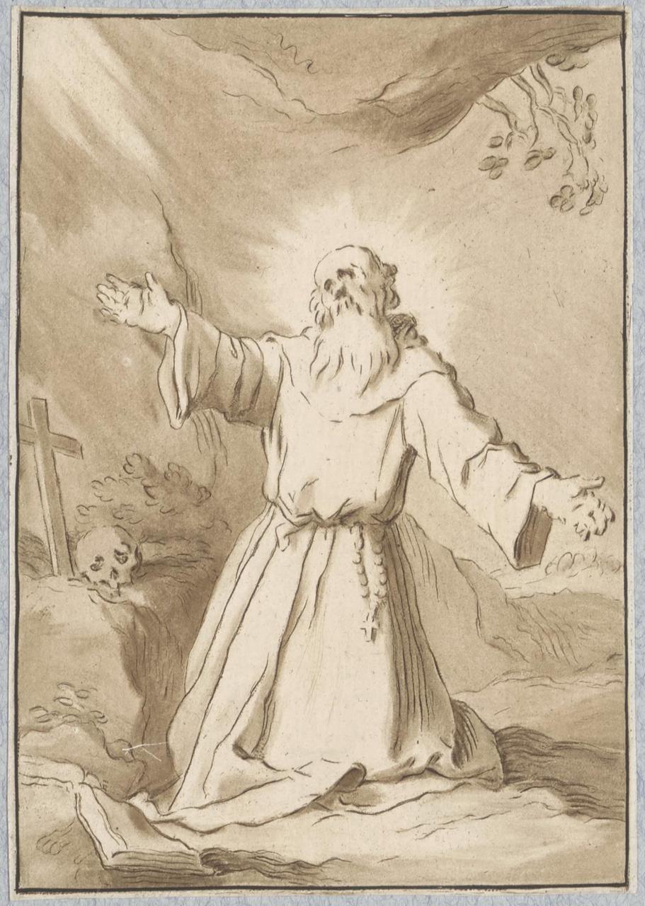 De heilige Hieronymus in gebed