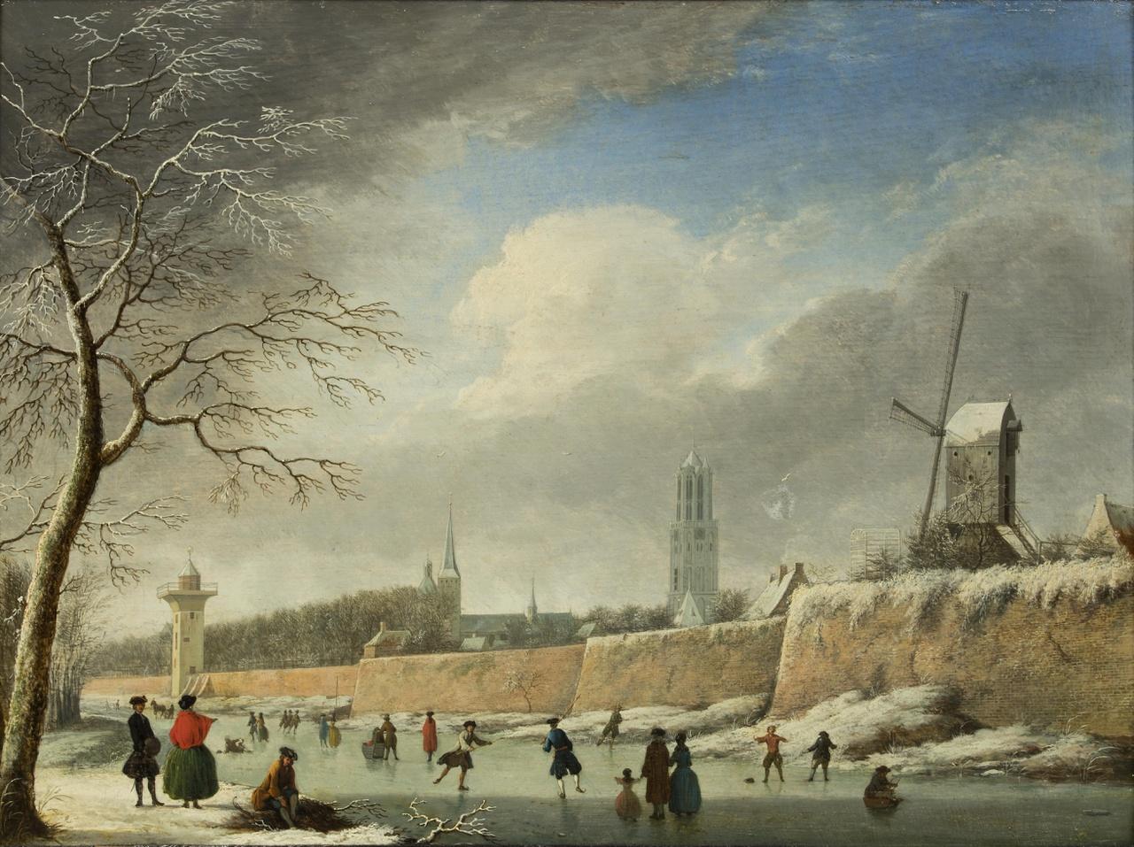 De Catharijnesingel met de stadswal en de Smeetoren te Utrecht