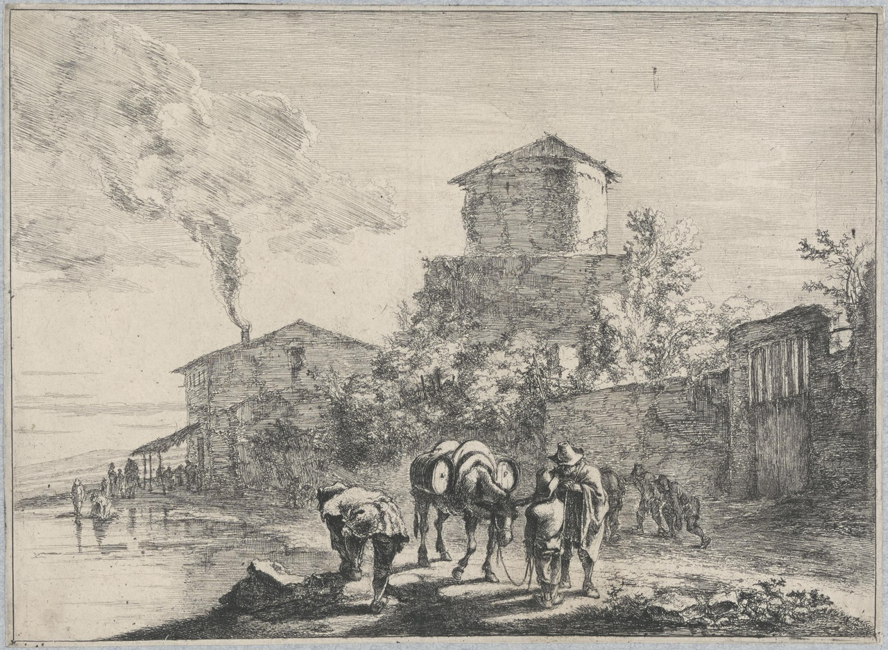 De muilezeldrijver langs de Via Appia
