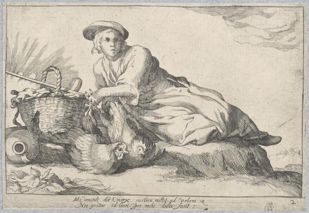 Liggend boerenmeisje; De Lof der Luiheid
