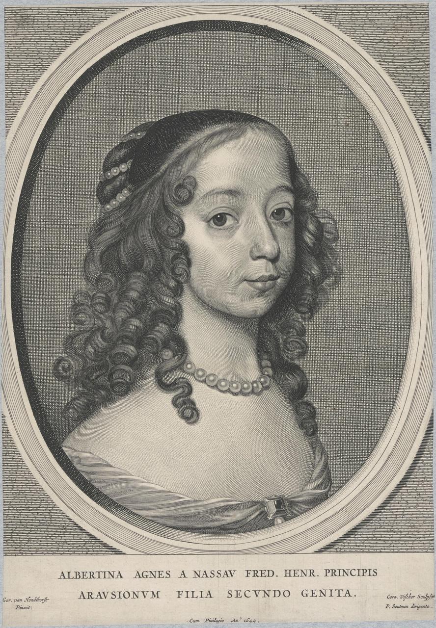 Portret van Albertina Agnes van Oranje-Nassau (1634-1696)
