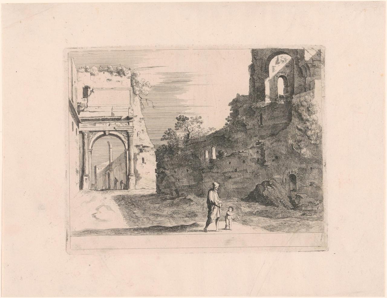 Ruïnes van de Titusboog in Rome
