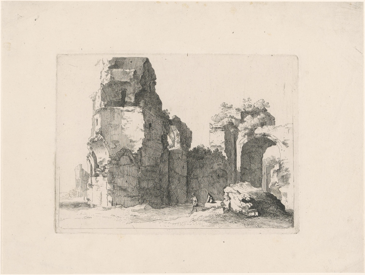 Ruïne van de thermen van Caracalla in Rome