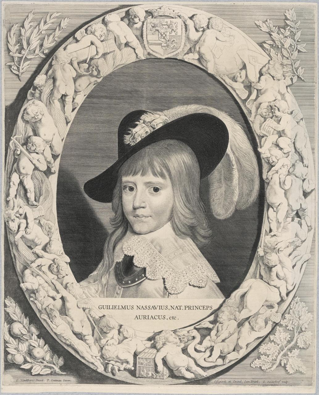 Portret van Willem II, als kind (1626-1650)