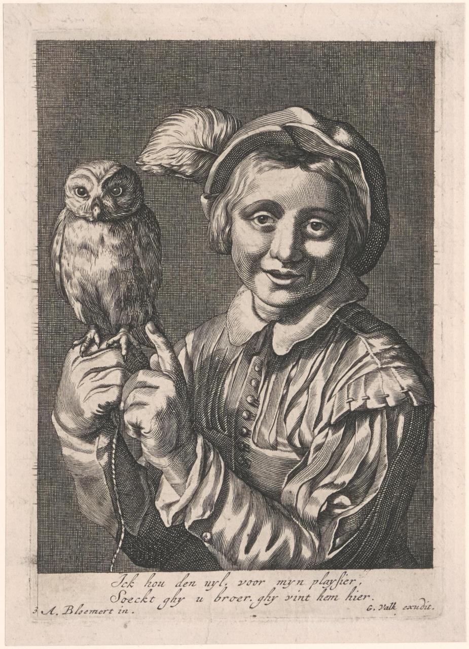 Jongen met een uil