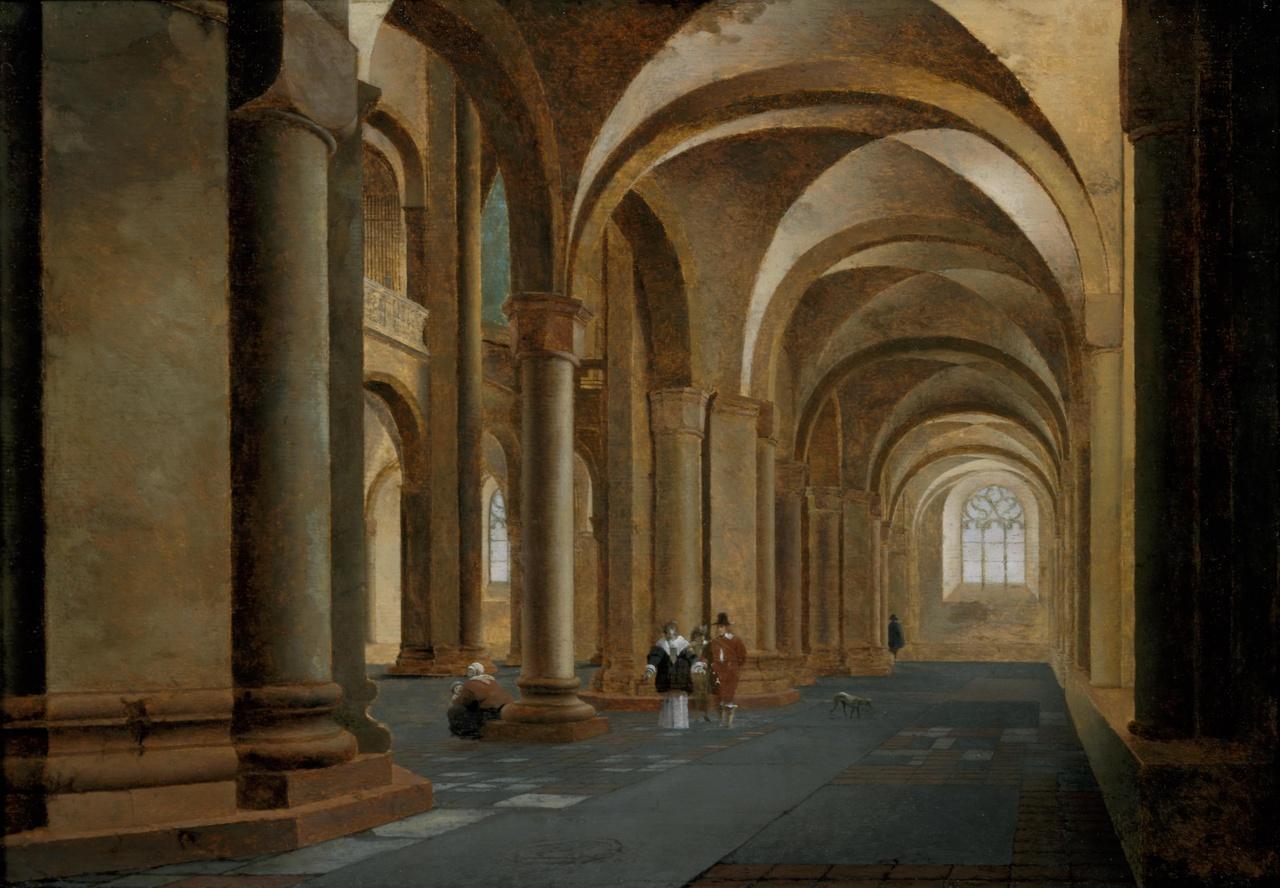 De noordelijke zijbeuk van de Sint Mariakerk te Utrecht