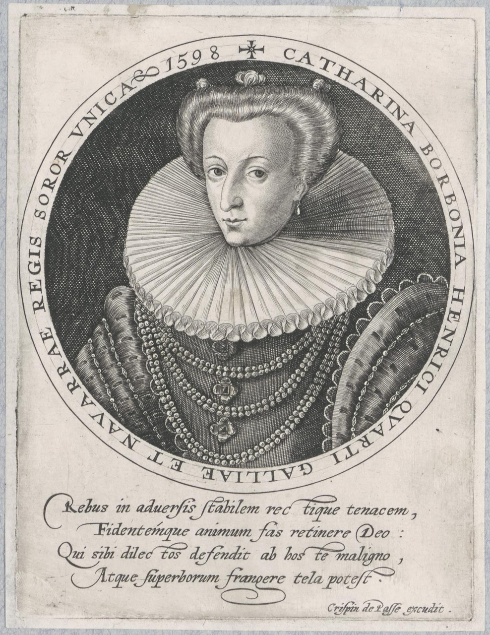 Portret van Catharina de Bourbon, hertogin van Bar (1558-1604)