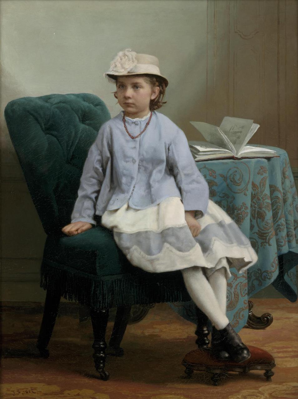 Portret van Joanna Frederike Olga Eugenie van Weede (1859-1867)