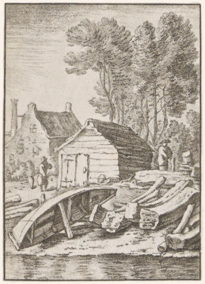Een schuitenmakerswerf