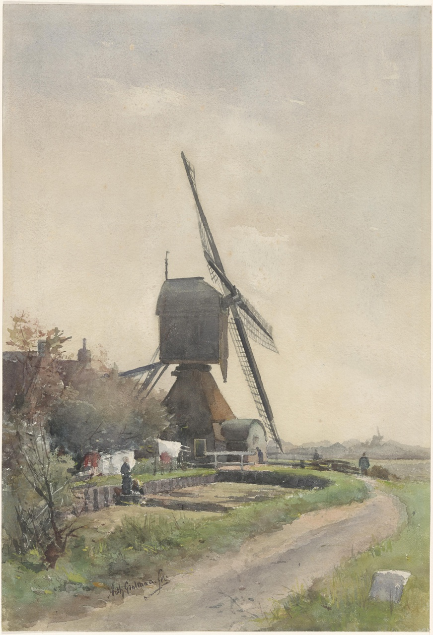 Watermolen bij Breukelen