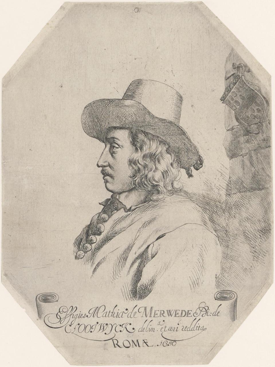 Portret van Matthijs van der Merwede, heer van Clootwyck (ca.1625-na 1675?)