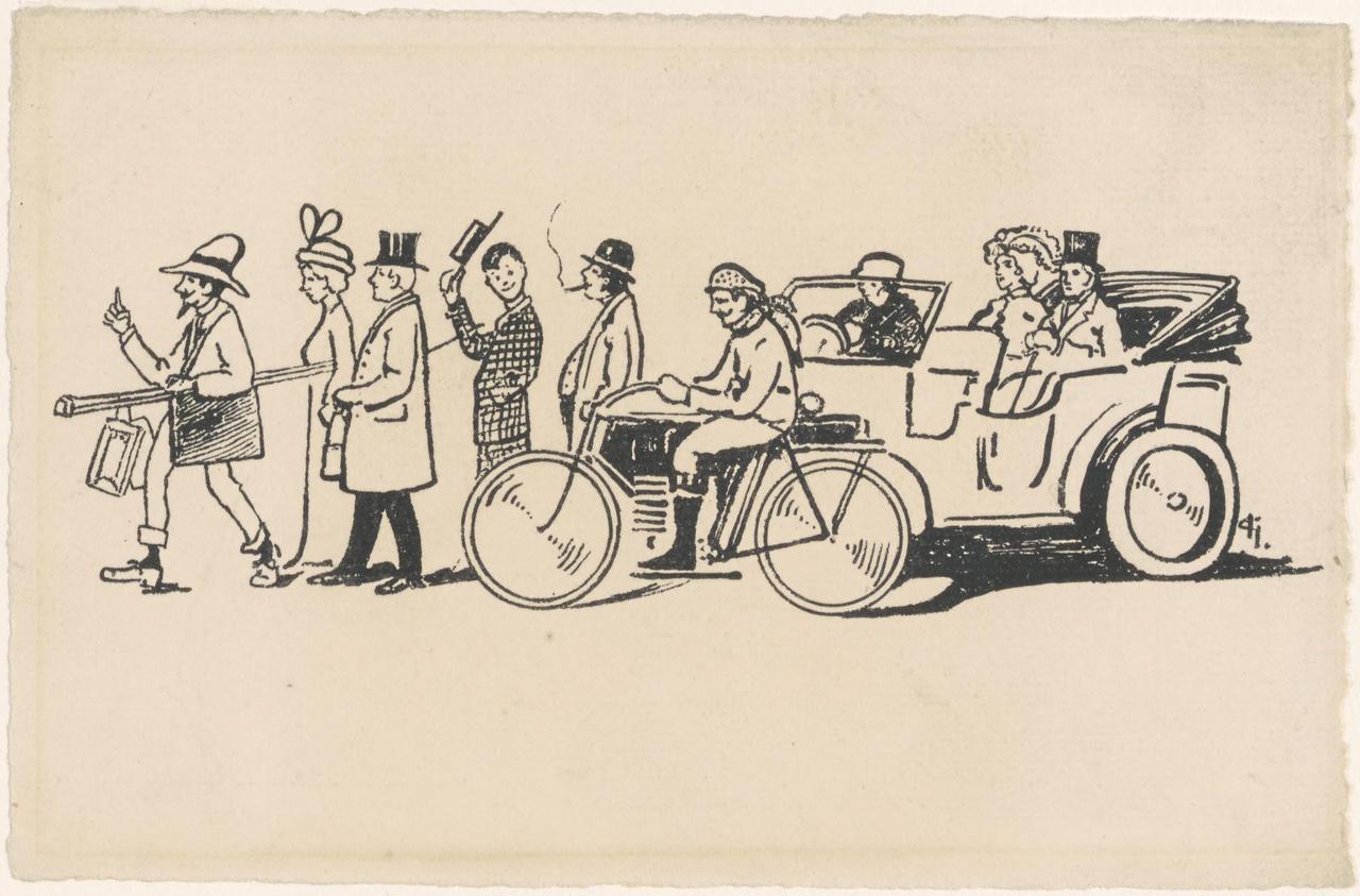 Voorstelling van het verkeer op straat