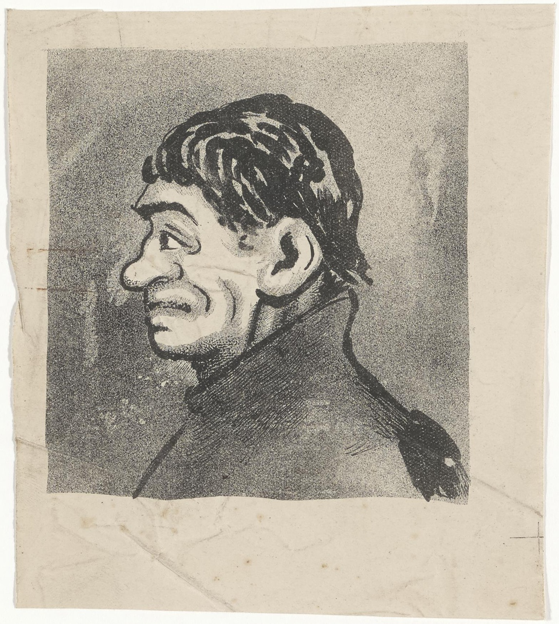 Karikaturaal portret en profil