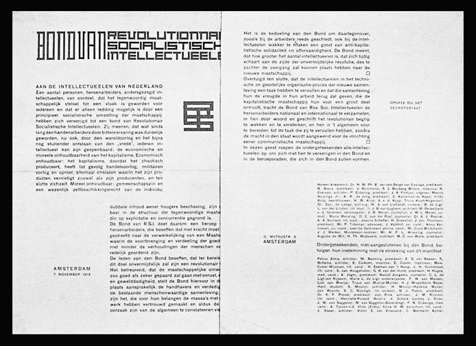 Manifest voor de Bond van Revolutionair-Socialistische Intellectueelen