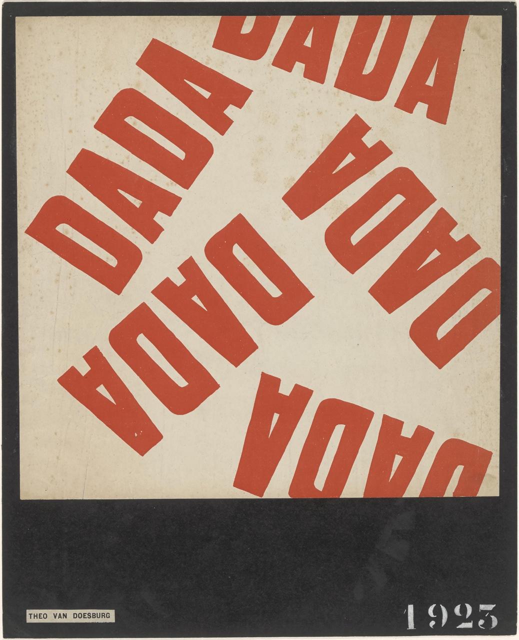 Affiche Kleine Dadasoirée (rode drukgang)