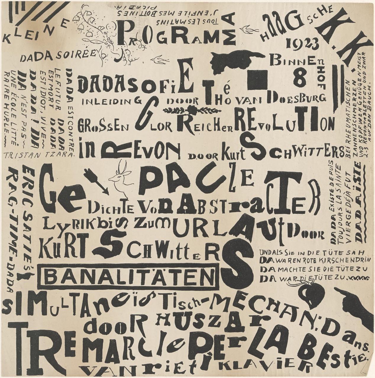 Affiche Kleine Dadasoirée (zwarte drukgang)