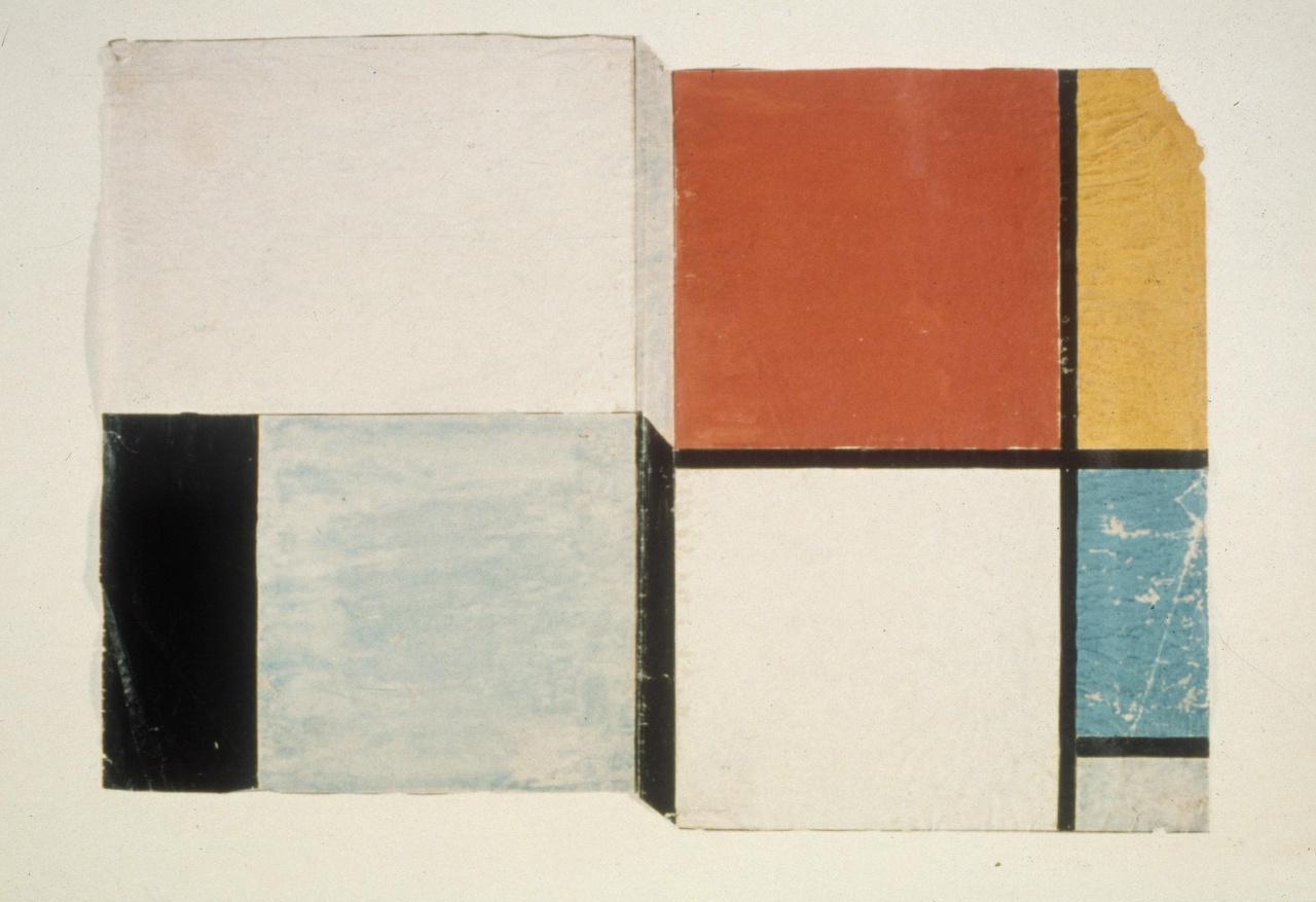 Ontwerp omslag voor Grundbegriffe der neuen gestaltenden Kunst