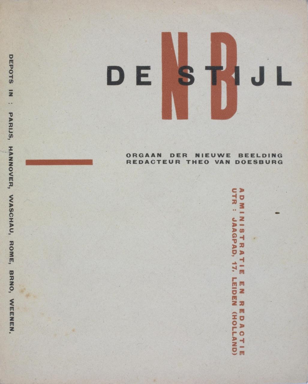 Typografie voor De Stijl vanaf 1917, envelop