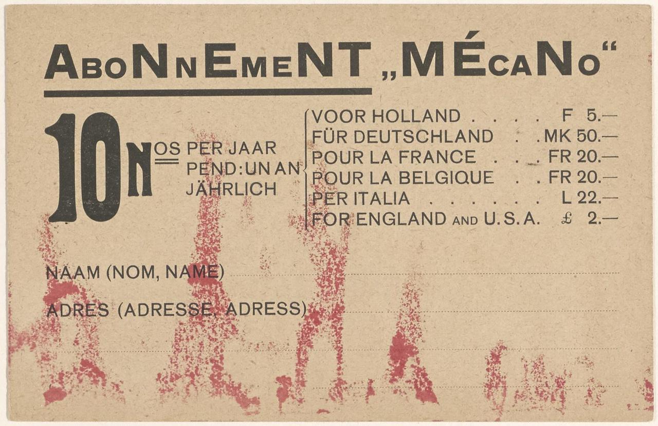 Aanmeldingskaart Mecano