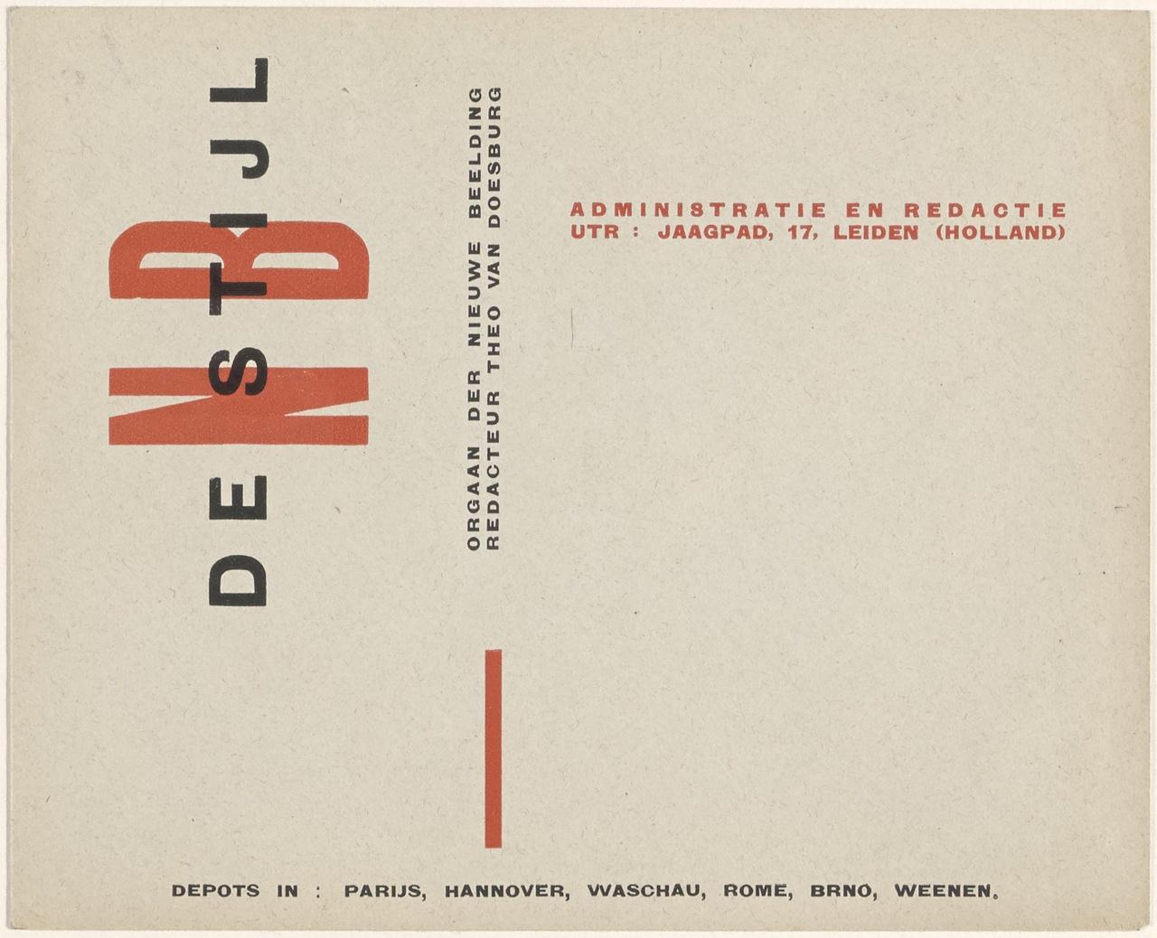 Typografie voor De Stijl, envelop