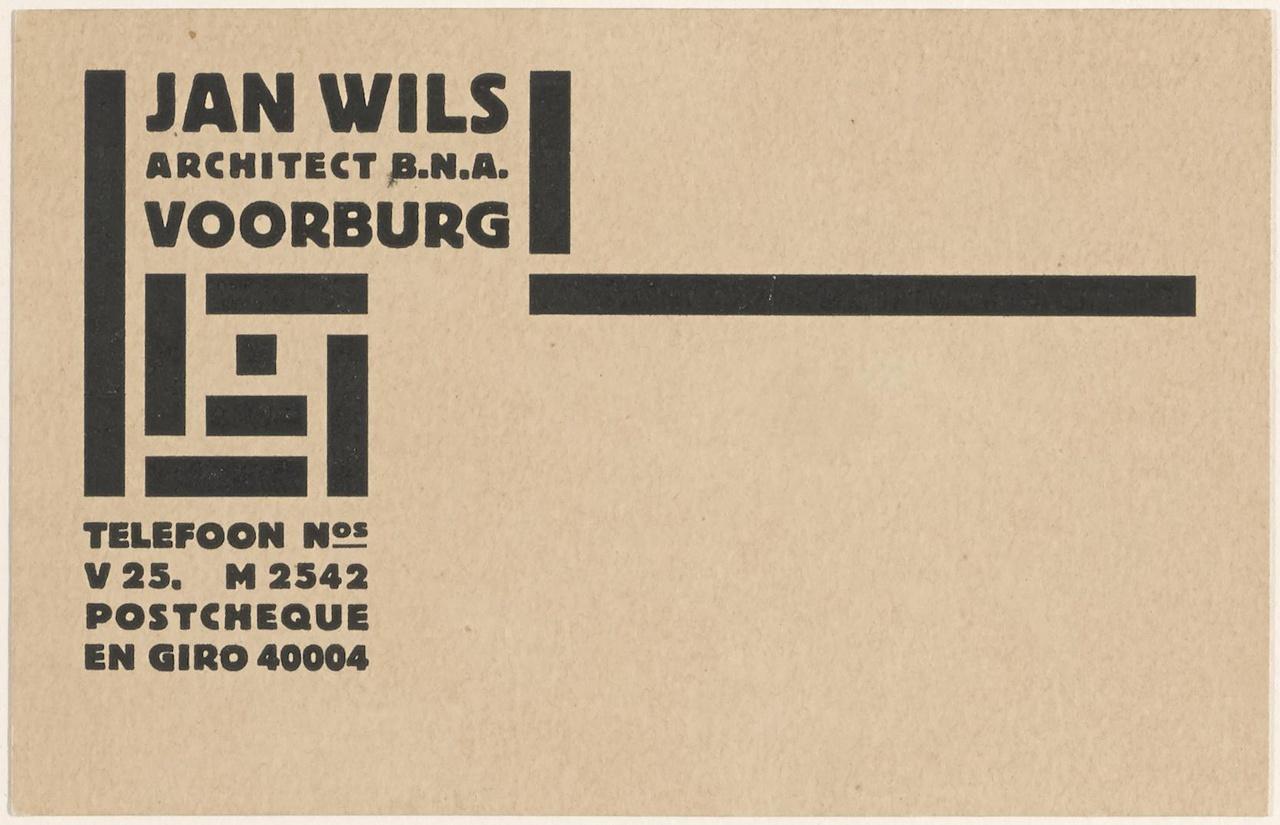 Visitekaartje Architect Jan Wils