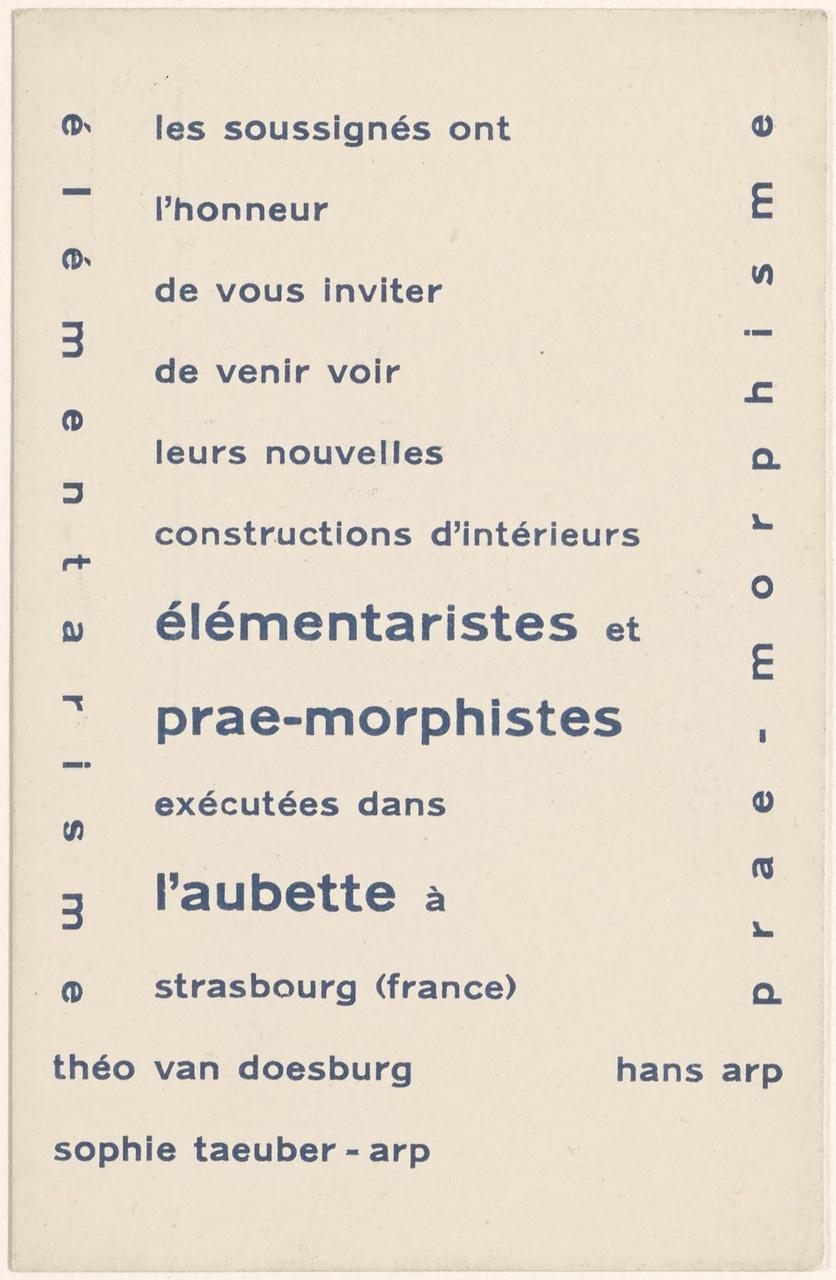 Uitnodiging voor de bezichtiging van de Aubette