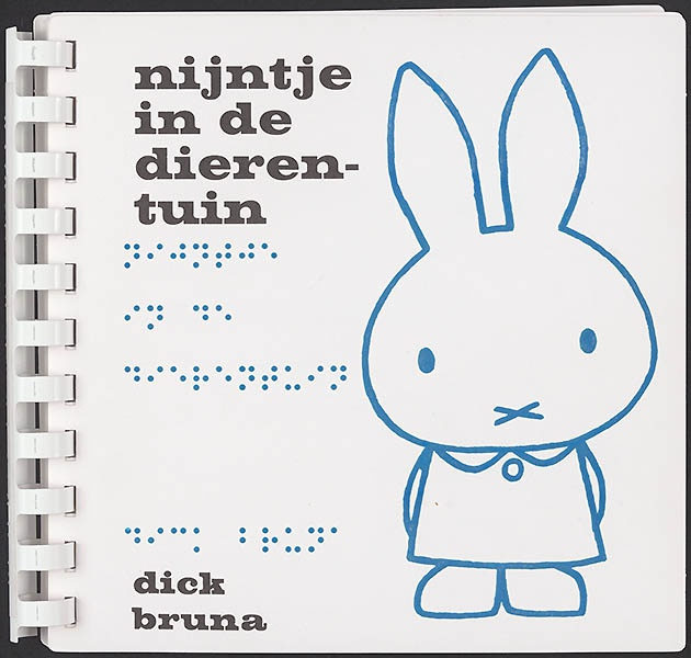 nijntje in de dierentuin [1963, braille]