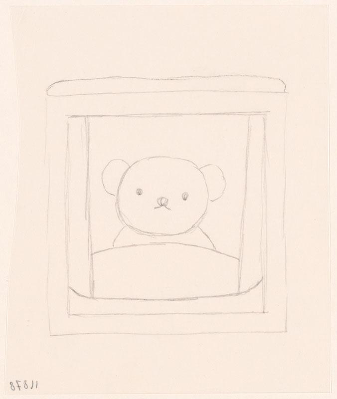 boris in de sneeuw [boris kijkt uit het raam, niet opgenomen in het kinderboek]