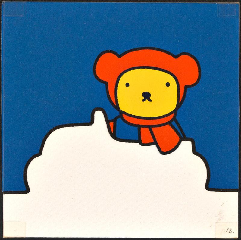 beertje in de sneeuw [beertje in een sneeuwauto, waarschijnlijk later gebruikt in kinderboek boris in de sneeuw mogelijk als variant voor p. 13 en tekst voor p. 14]
