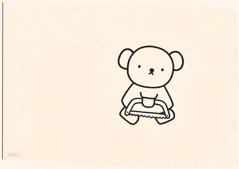 boris beer [boris loopt met zaag, niet opgenomen in het kinderboek]