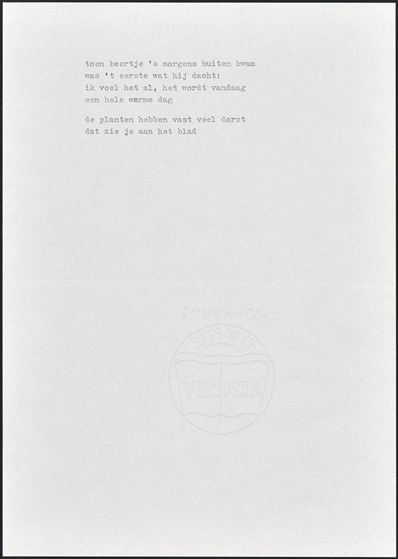 beertje in de tuin, niet uitgegeven [concept tekst (7) van de eerste pagina's; latere basis voor boris beer]