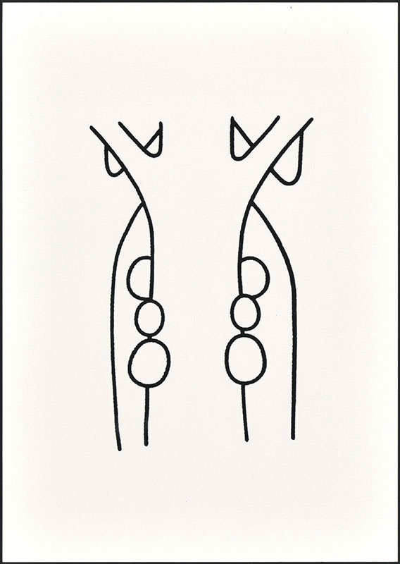 boris en barbara [boris laat zich zakken langs de boomstam op p. 21]