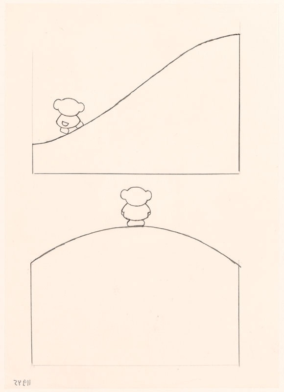 boris op de berg [boris onderaan de berg op p. 5 en boris op de berg op de omslag en op p. 7]