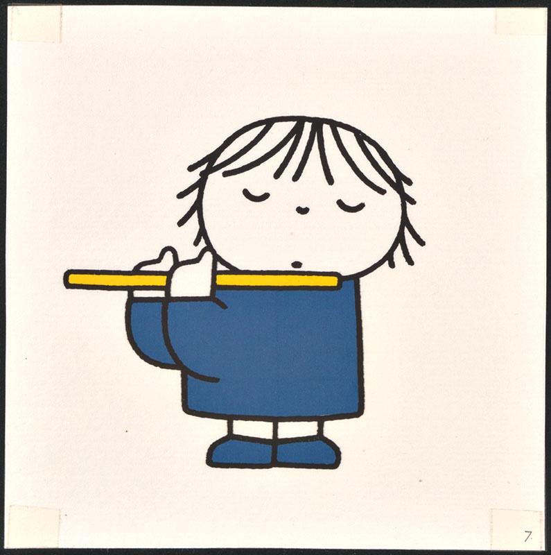 het orkest [eerdere versie van het kinderboek: wij hebben een orkest; met de dwarsfluitiste op p. 7, niet uitgegeven]