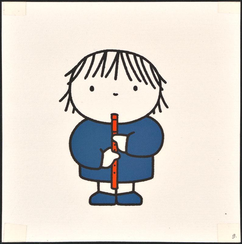 het orkest [eerdere versie van het kinderboek: wij hebben een orkest; met de blokfluitiste op p. 9 en tekst op p. 10, niet uitgegeven]
