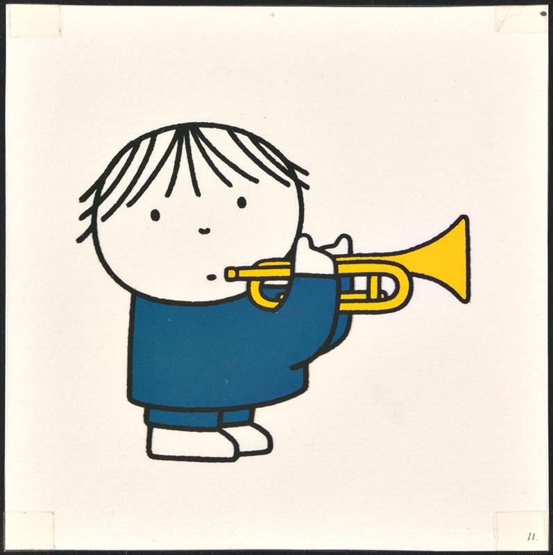 het orkest [eerdere versie van het kinderboek: wij hebben een orkest; met de trompettist op p. 11, niet uitgegeven]