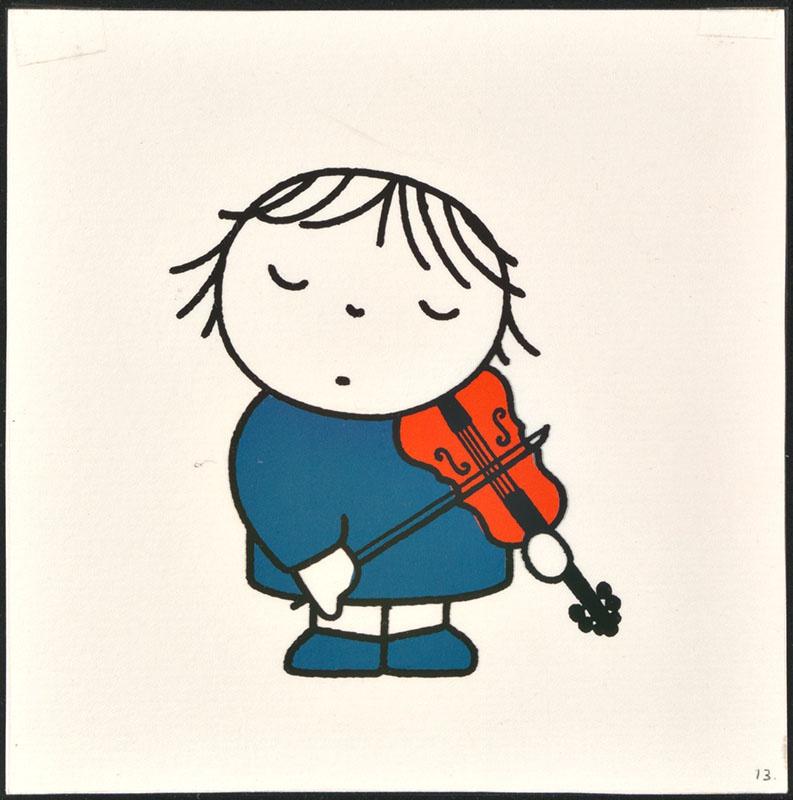 het orkest [eerdere versie van het kinderboek: wij hebben een orkest; met de violiste op p. 13 en tekst op p. 14, niet uitgegeven]