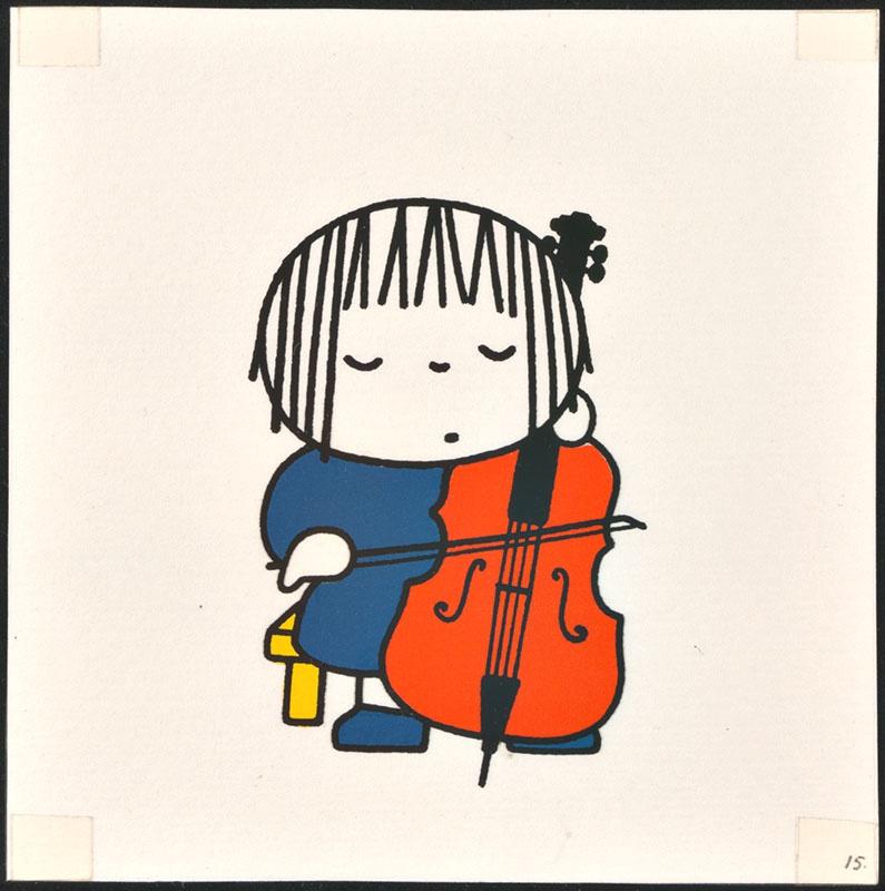 het orkest [eerdere versie van het kinderboek: wij hebben een orkest; met de celliste op p. 15, niet uitgegeven]