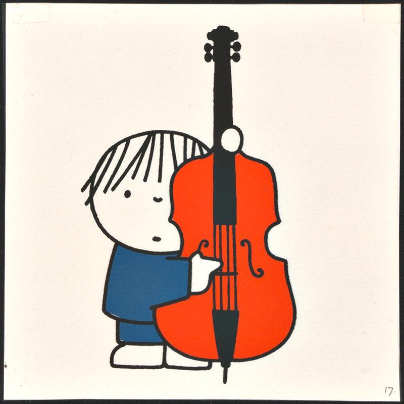 het orkest [eerdere versie van het kinderboek: wij hebben een orkest; met de cotrabassist op p. 17, niet uitgegeven]