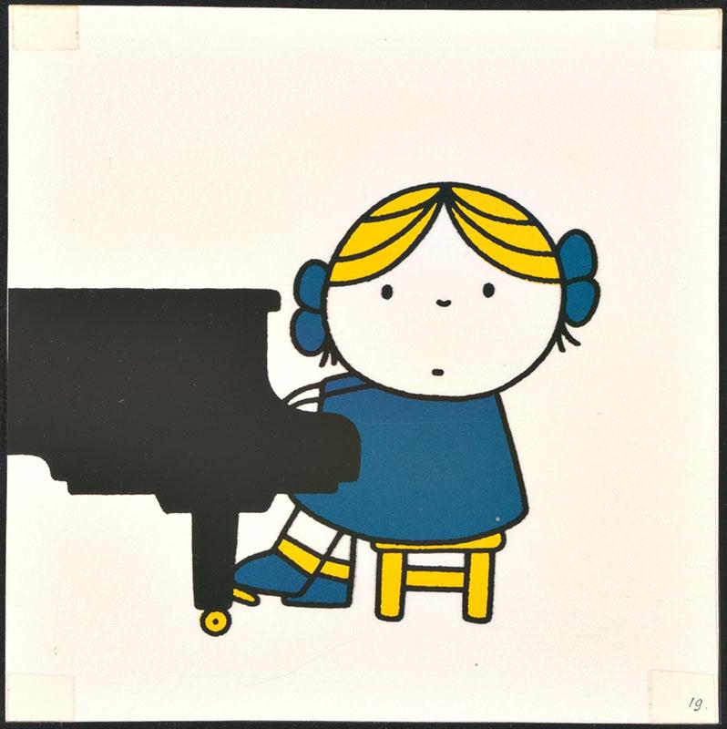 het orkest [eerdere versie van het kinderboek: wij hebben een orkest; met de pianiste op p. 19 en tekst op p. 20, niet uitgegeven]