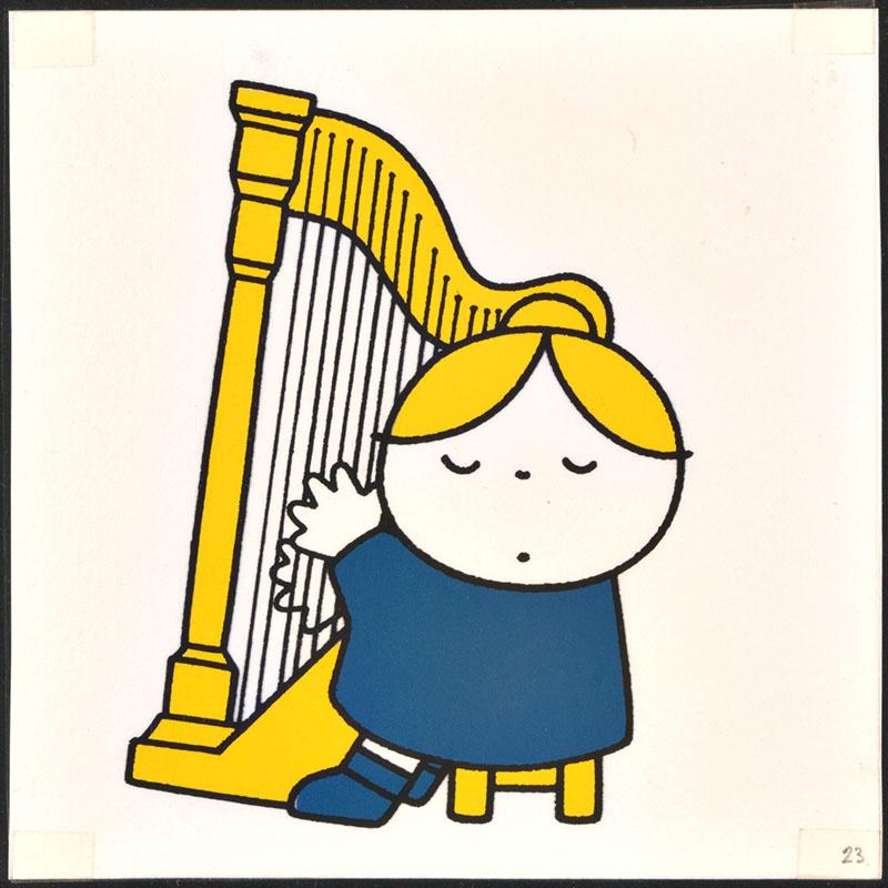 het orkest [eerdere versie van het kinderboek: wij hebben een orkest; met de harpiste op p. 23 en tekst op p. 24, niet uitgegeven]