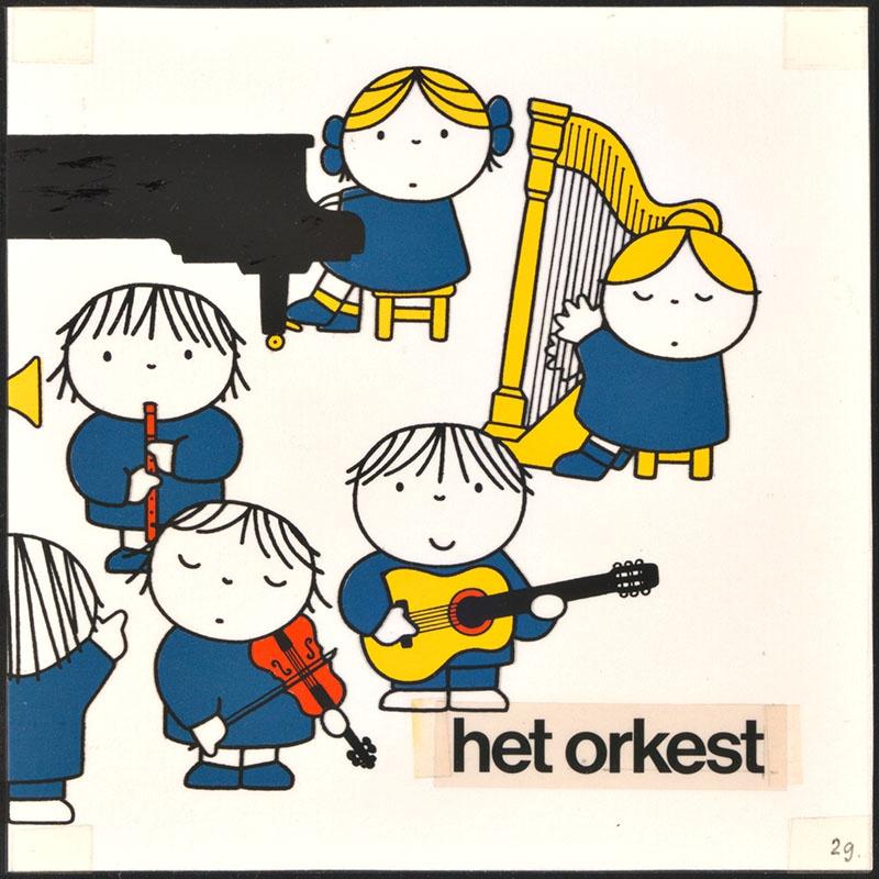 het orkest [eerdere versie van het kinderboek: wij hebben een orkest; met een deel van het orkest op p. 29, niet uitgegeven]