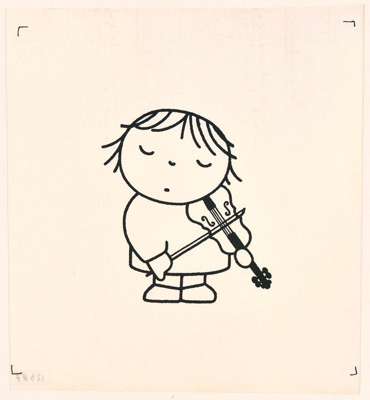 wij hebben een orkest [bets speelt op de viool op p. 13]; het orkest [violiste op p. 13, niet uitgegeven]
