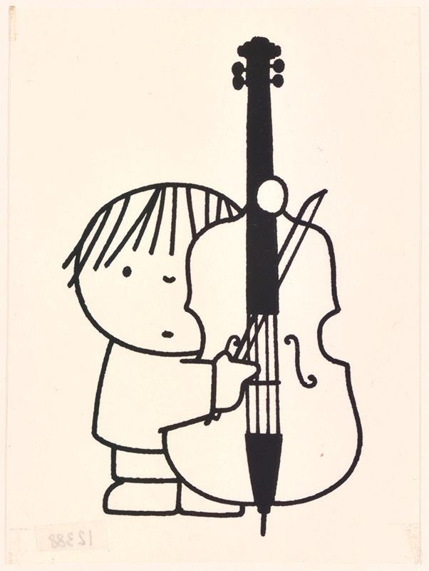 wij hebben een orkest [pieter speelt op de contrabas op p. 17]; het orkest [contrabassist op p. 17, niet uitgegeven]
