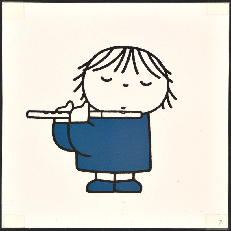 het orkest [eerdere versie van het kinderboek: wij hebben een orkest; met de dwarsfluitiste op p. 7 en tekst op p. 8, niet uitgegeven]